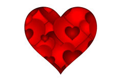 Valentines Day red heart Stock Images