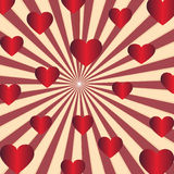Valentines Day. Red heart with sunshine background royalty free illustration
