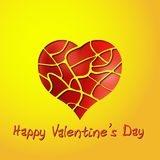 Valentines day red heart in web greeting card Royalty Free Stock Photos