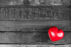 Valentines day. Red heart on a wooden background royalty free stock images
