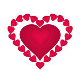 Valentines day red hearts  vector Stock Photos