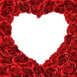 Valentines day red roses heart inverted isolated background royalty free illustration