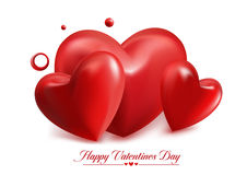 Valentines Day Red Sweet Balloon Hearts Royalty Free Stock Photos