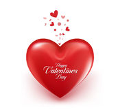 Valentines Day Red Sweet Balloon Hearts stock illustration