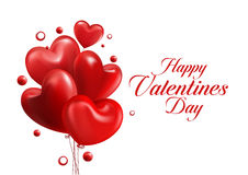 Valentines Day Red Sweet Balloon Hearts Stock Image