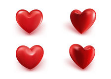 Valentines Day Red Sweet Balloon Hearts. 3D Vector Illustration Royalty Free Stock Images