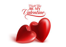 Valentines Day Red Sweet Balloon Hearts Stock Photos