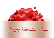 Valentines Day Red Sweet Balloon Hearts Royalty Free Stock Photography