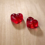 Valentines day, red sweet candies in heart shape Stock Image