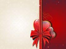 Valentines Day Retro card Stock Image