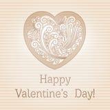 Valentines Day Retro Card Stock Photos