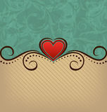 Valentines Day retro elegance background Royalty Free Stock Image