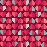 Valentines day retro heart pattern Royalty Free Stock Photography