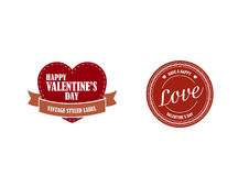Valentines day retro stickers Royalty Free Stock Photos