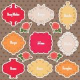 Valentines Day Retro Stickers Stock Images