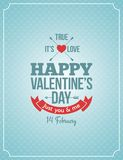 Valentines day retro vintage background Stock Image
