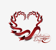 Valentines day ribbon hearts Royalty Free Stock Photography
