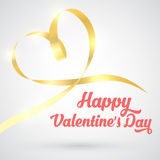 Valentines day ribbon Royalty Free Stock Photo