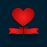 Valentines day romance concept red heart. Illustration Stock Photography