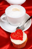 Valentines day romantic breakfast Royalty Free Stock Image