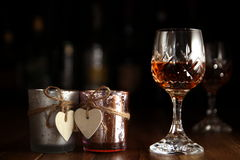 Valentines Day Romantic Drinks Stock Photos