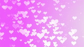 Valentines Day romantic Pink big hearts floating motion background. You can use backgrounds for vfx, blog, vlogs, presentations, commercials, nadvertising stock footage