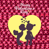 Valentines day - Romantic relationship lover illustration Royalty Free Stock Images