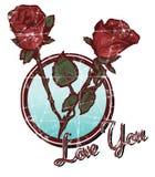 Valentines Day Roses stock illustration