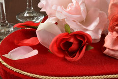 Valentines day roses and chocolates Stock Photography