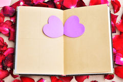 Valentines day with Roses and hearts background Royalty Free Stock Photography