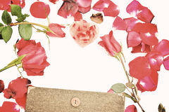 Valentines day with Roses and hearts background Royalty Free Stock Photos