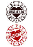 Valentines day rubber stamp Stock Photo
