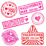 Valentines Day Rubber Stamps Royalty Free Stock Image
