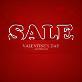 Valentines day sale. Red card stock illustration