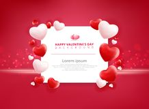Valentines day sale background with balloons heart pattern. Vector illustration. Wallpaper, flyers, invitation, posters, brochure, banners, ad Royalty Free Stock Images