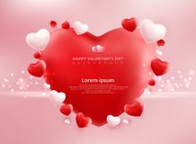 Valentines day sale background with balloons heart pattern. Vect. Or illustration. Wallpaper, flyers, invitation, posters, brochure, banners, ad Royalty Free Stock Photos