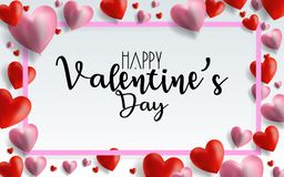 Valentines day sale background with balloons heart pattern. Vector illustration. Wallpaper, flyers, invitation, posters, brochure,. Banners. EPS 10 Royalty Free Stock Photo