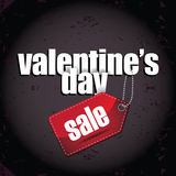 Valentine's Day sale background with big red bow Stock Photo