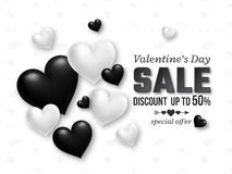 Valentines day sale background Stock Images