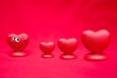 Valentines Day Sale. Sale Valentines Day background with happy love heart royalty free stock photography