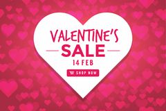 Valentines day sale background with Heart Shaped. vector illustration