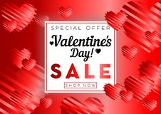 Valentines day sale background. With red heart pattern. Vector illustration. Wallpaper, flyers, invitation, posters, brochure, banners vector illustration