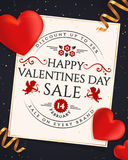 Valentines Day sale banner. Stock Images