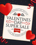 Valentines Day sale banner. Royalty Free Stock Images