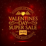 Valentines Day sale banner. Stock Photography