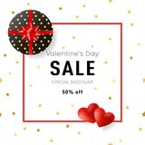 Valentines Day sale banner for online shopping. Vector illustrat. Ion. Eps 10 Stock Photos