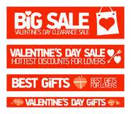 Valentines day sale banners. Valentines day sale banners collection Stock Images