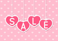 Valentines day sale concept Stock Photography