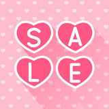 Valentines day sale concept for Your design-05 Royalty Free Stock Image