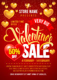 Valentines Day Sale Design Template Royalty Free Stock Photo